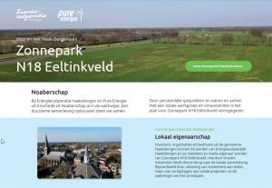 Vooroverlegplan Zonnepark N18 Eeltinkveld