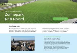 Vooroverlegplan Zonnepark N18 Noord